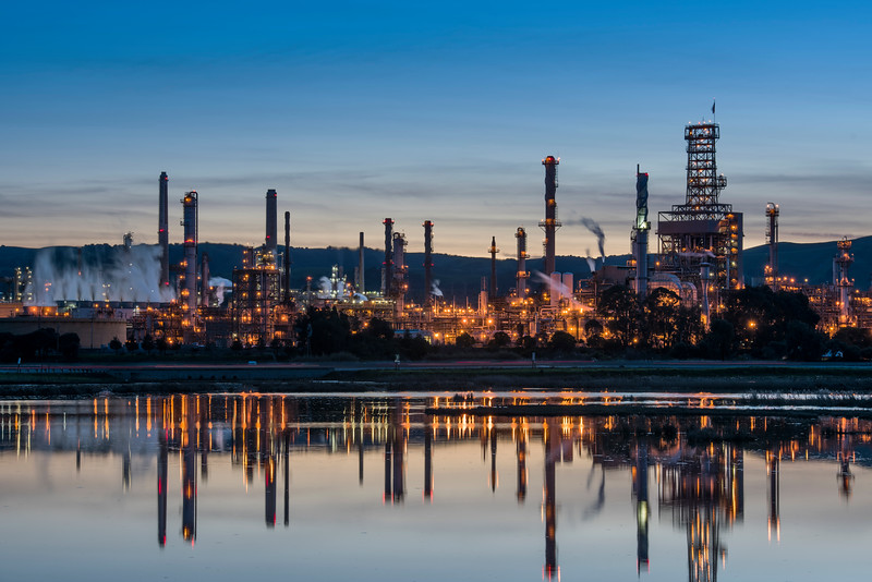 Oil Refinery and reflections
