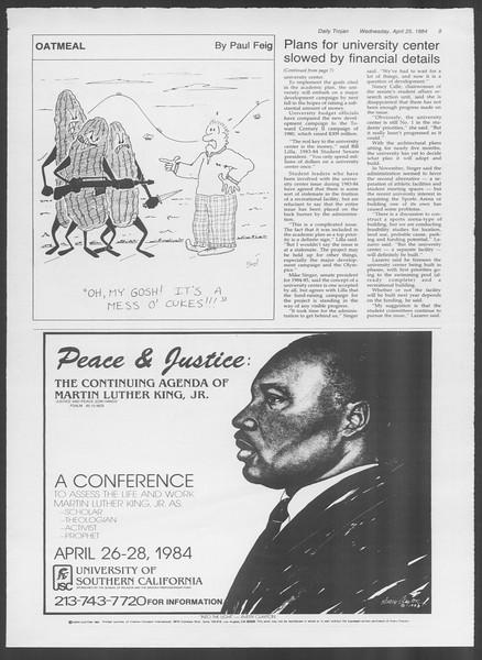 Daily Trojan, Vol. 95, No. 69, April 25, 1984