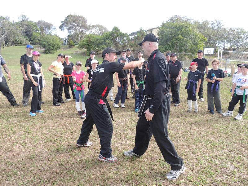 Garry 1st Dan & Shihan Martin Day  Combat Karate Noosa. One Day self defence & combat karate training for all on the Sunshine Coast, Australia. Kyusho pressure points training.