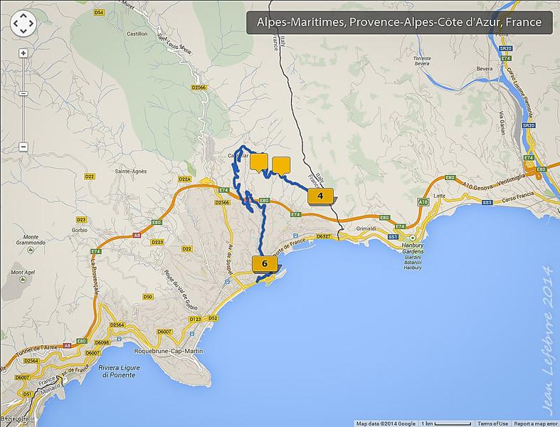 Hike near Castellar, France to the Italian border
