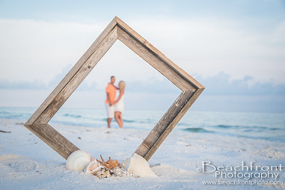 Kendall & Blaine - Anniversary Photography at the beach