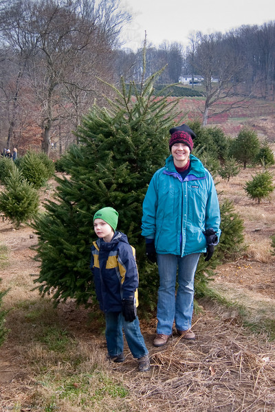 Laura and K.C. have picked the perfect tree.