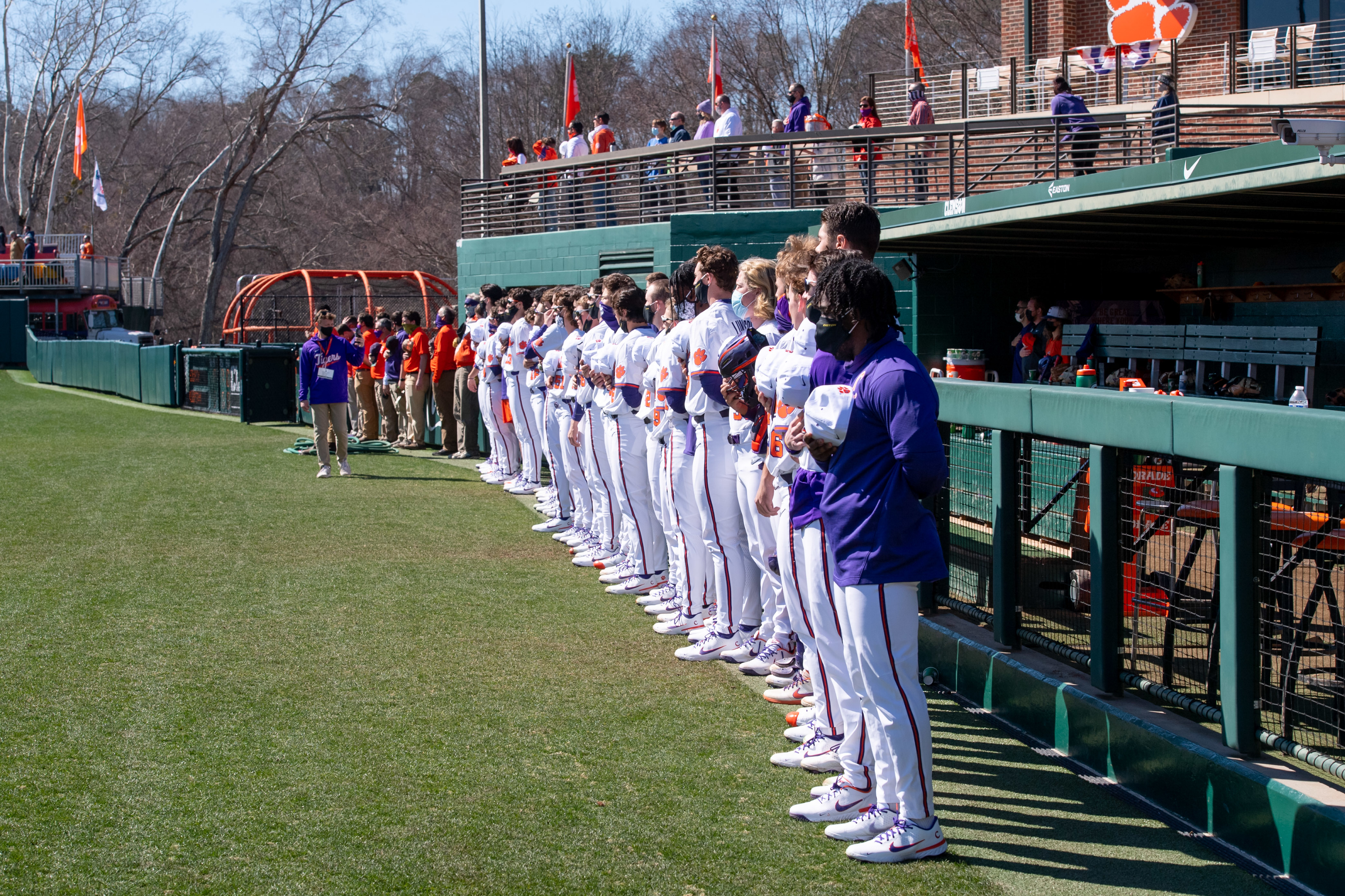 Clemson defeated Cincinnati 8-7 Sunday, February 21, 2021 at Doug Kingsmore Stadium to complete a three-game sweep over the Bearcats. John Bolton photo courtesy of the ACC