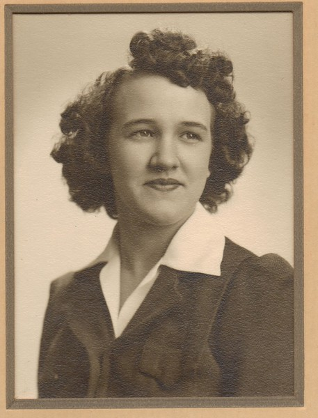 Norma Fleury, Franklin Academy Graduate 1945.jpg