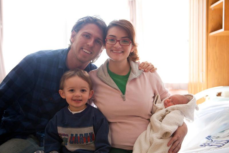 Jill, Jay, Hunter and Henry Grabiec at Sarah Bush Lincoln Hospital in Mattoon, Illinois on November 17,  2011. (Jay Grabiec)