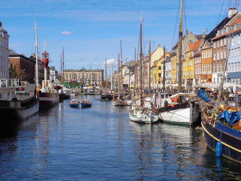 Boats along the harbour of Nyhavn