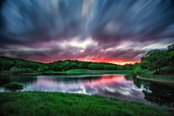 Sunset long exposure - Lone Elk Park St. Louis