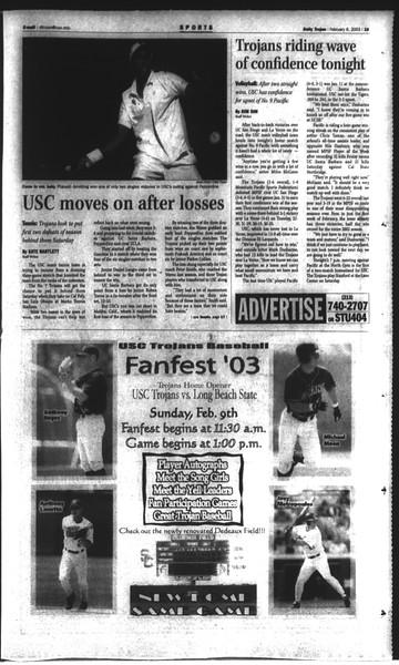 Daily Trojan, Vol. 148, No. 16, February 06, 2003