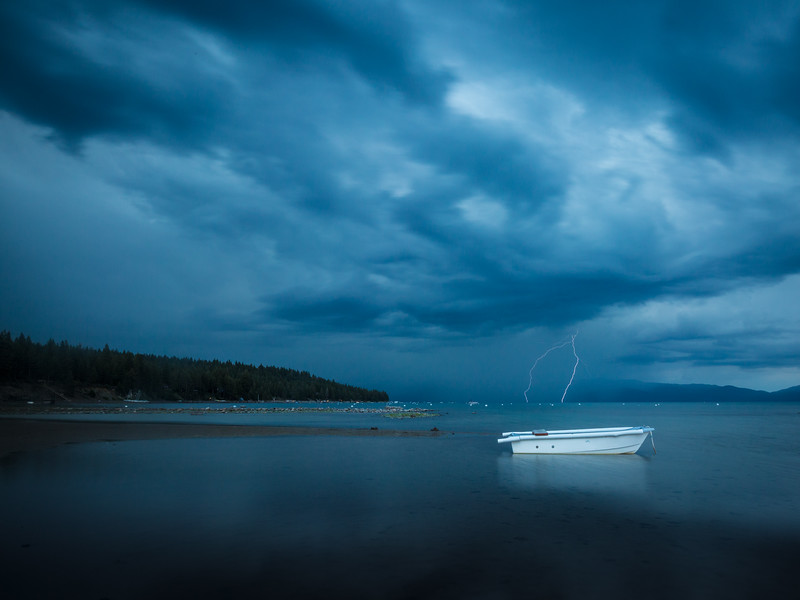 Lightning on Lake Tahoe