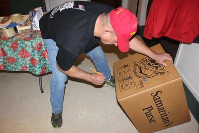 Operation Christmas Child, Boxing, Church, Lehighton (11-22-2014)