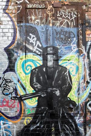 Graffiti on the wall, Hackney Wick, E9, London, United Kingdom