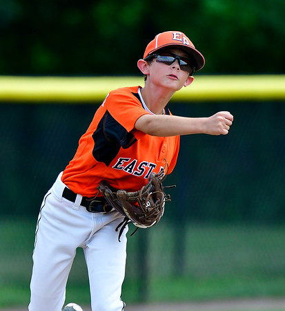 8/7/2019 Mike Orazzi | Staff Pennsylvania Brody Rafferty (5) during Wednesday's Eastern Regional Little League Baseball game at Breen Field in Bristol.