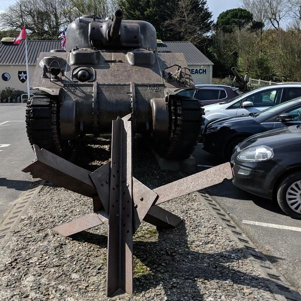 Anti-tank beach obstacles