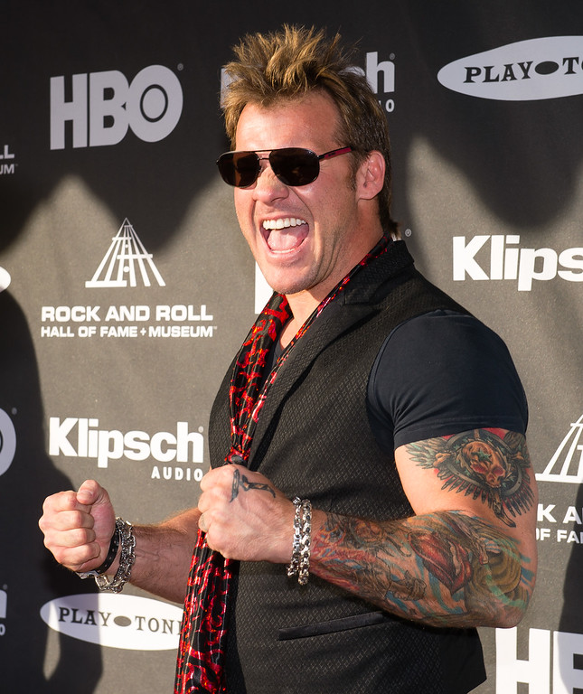 . Chris Jericho on the red carpet prior to the 2015 Rock And Roll Hall Of Fame Induction Ceremony at Public Hall on Saturday, April 18, 2015, in Cleveland, Ohio. (Photo by Jason Miller/Invision/AP)