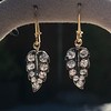 1.85ctw Victorian Leaf Component Earrings 4