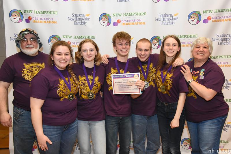 1st place. 130-04812 ,Monadnock Regional High School, , Swanzey, NH, Improvisational Challenge- Heads Up, Secondary Level