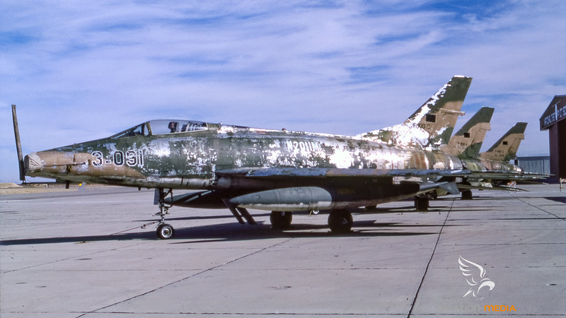 Tracor Flight Systems (former Turkish Air Force 03-091) North American F-100C Super Sabre II N2011M