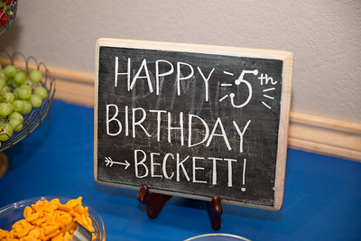 Beckett's 5th Birthday
