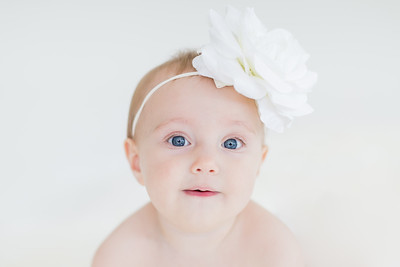 8 month old baby photographs - pure white background