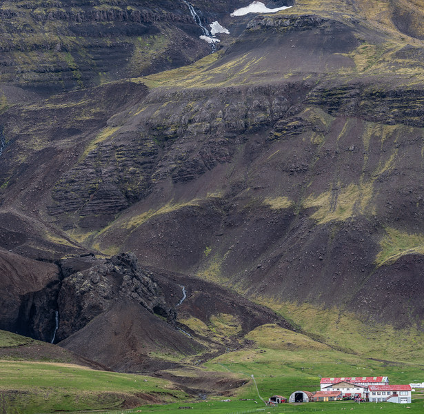 Mountain Base in Iceland  Photography by Wayne Heim