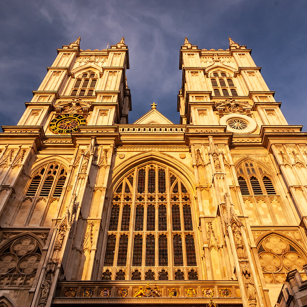 Evening light on Westminster Abbey