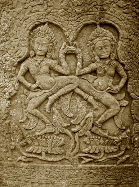 wall carvings at Ankor, Cambodia