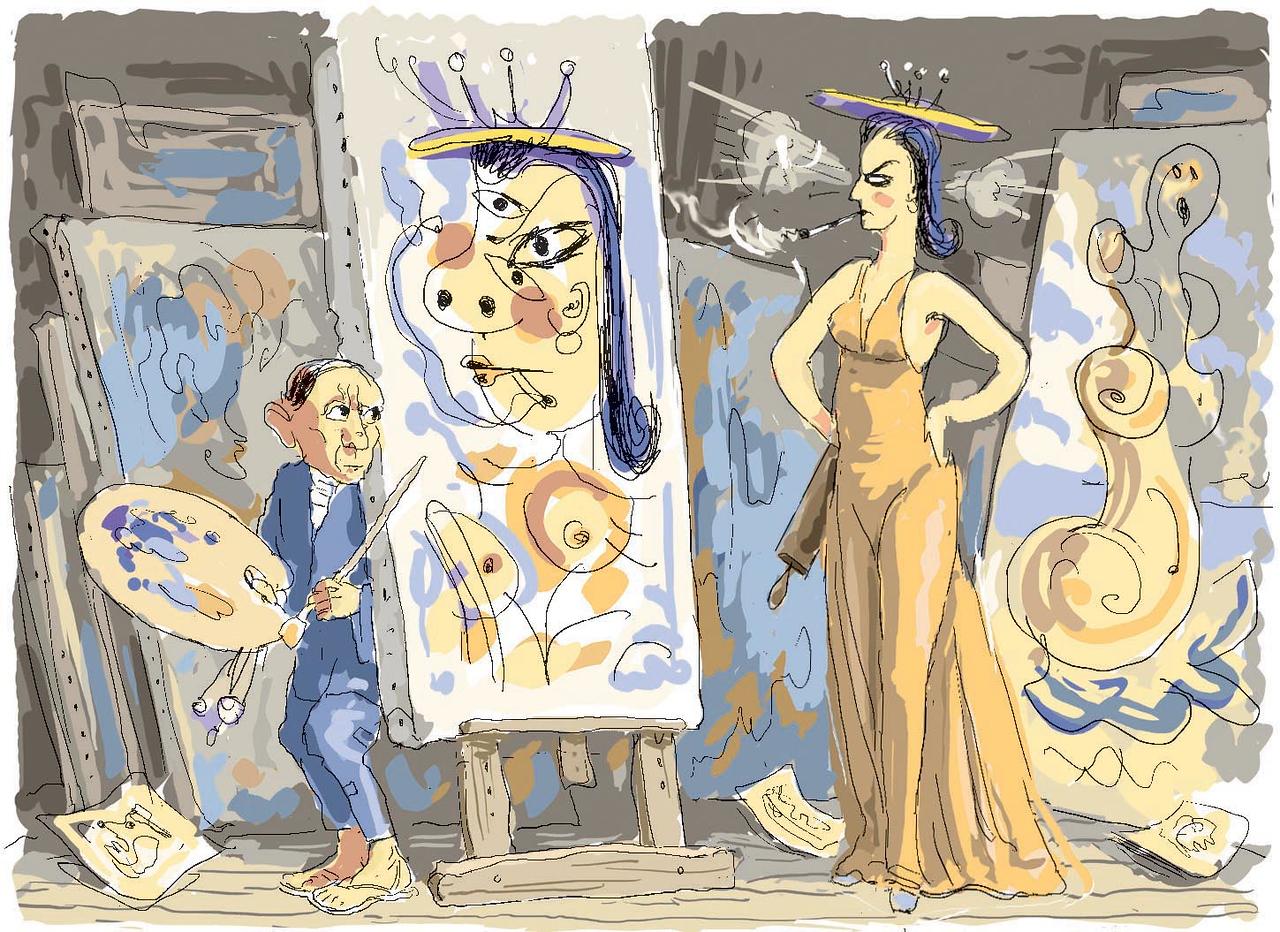 """""""Dora Maar Discovers Her Portrait"""""""