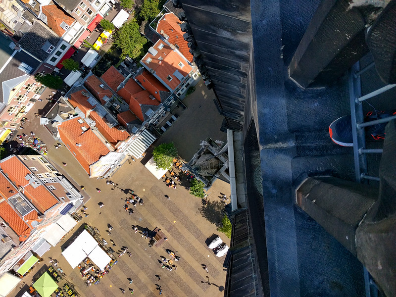 Looking down. Straight down.