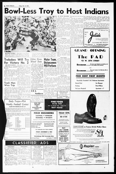 Daily Trojan, Vol. 55, No. 34, November 08, 1963