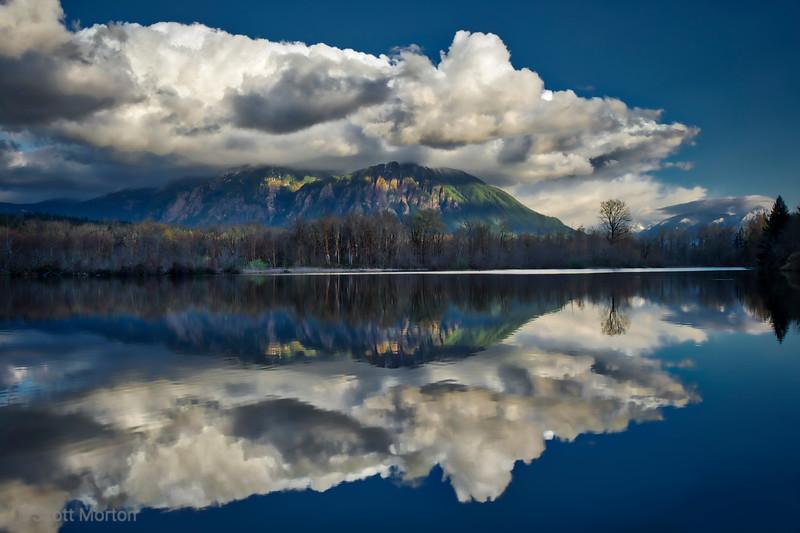 Borst Lake Reflection of Mt Si – Snoqualmie, WA