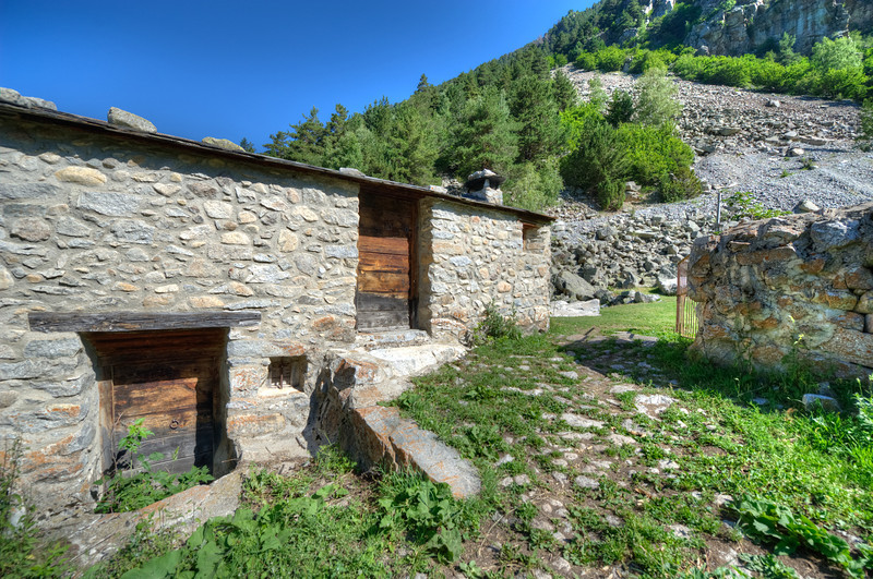 Abandoned stone house in Andorra
