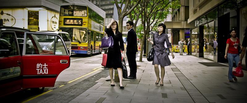 Downtown Life in Hong Kong