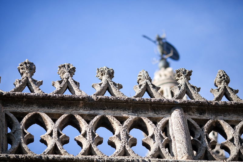 Gothic decorative tracery, Santa Maria de la Sede Cathedral, Seville, Spain