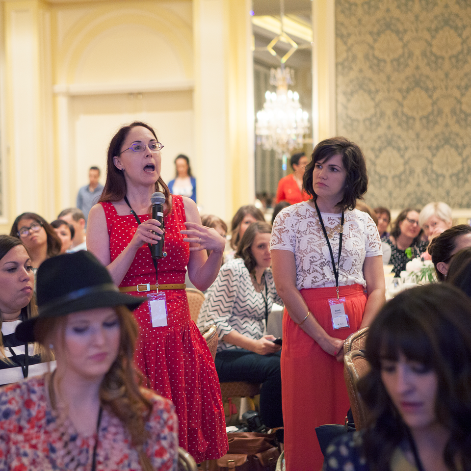 Asking Martha Stewart a Question at Alt Summer 2014