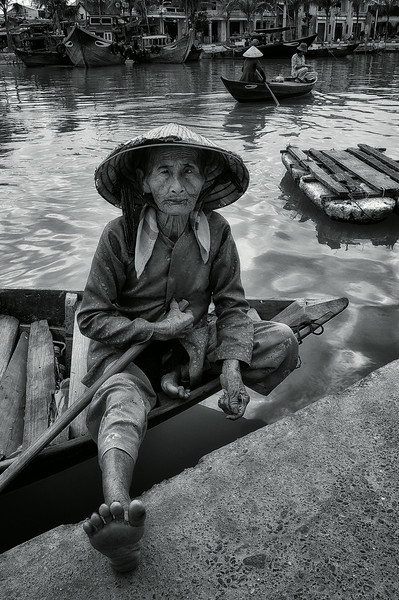 Boat woman.   Hoi An, Vietnam, 2008