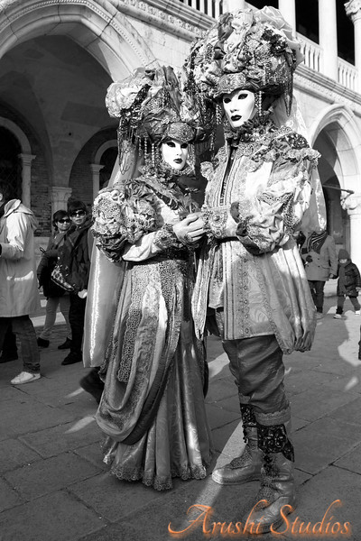 Even in this black and white version you can see the richness of the costumes.