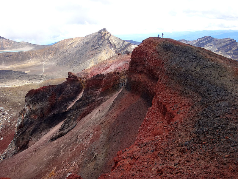 At 1,886 m the Red Crater is the high point of the Tongariro Crossing in the middle of New Zealand's North Island. Dec. 2016.