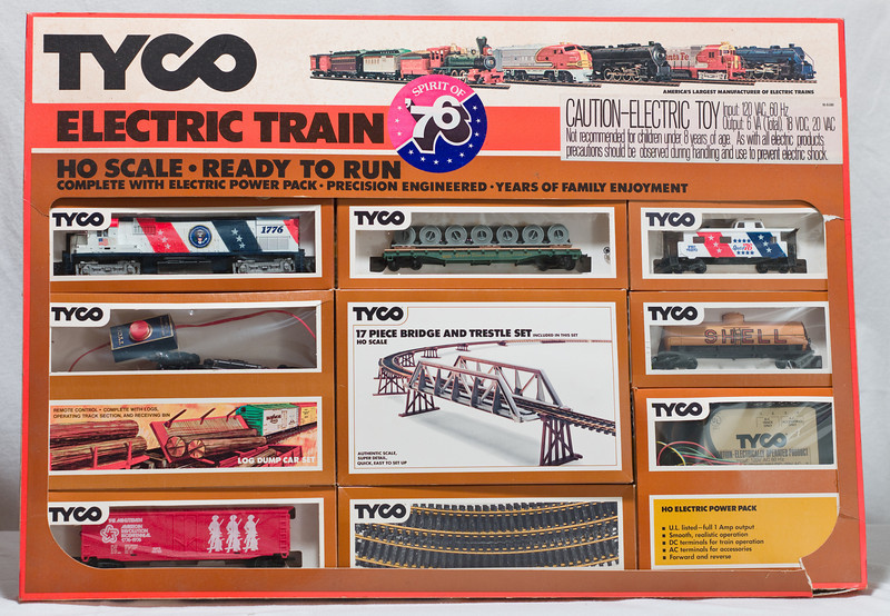 "Tyco ""Spirit of '76"" HO train set  Available to bring now or for a later auction."