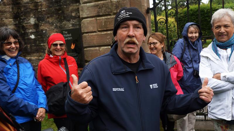 Our guide at Culzean Castle Gardens