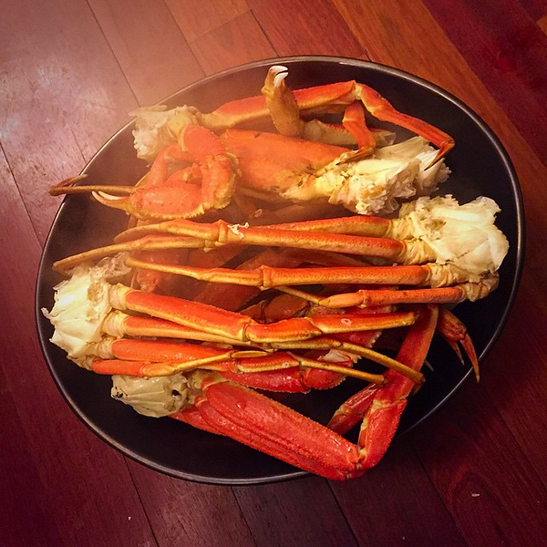 On the table tonite II: snow (opelio) #crab legs! #food #foodie #foodgram