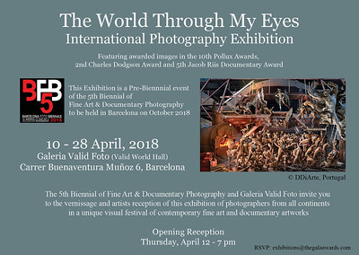 03.04.2018 - The World Through My Eyes exhibition in Barcelona