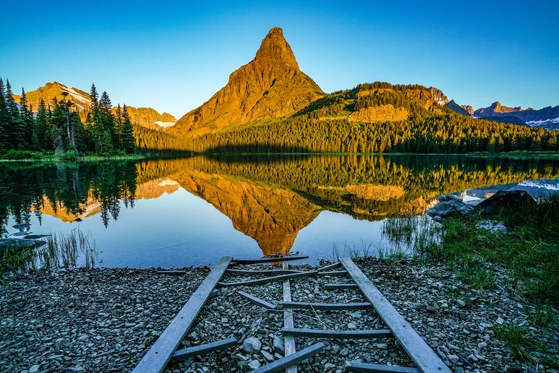 Run down ramp at Many Glacier Lake