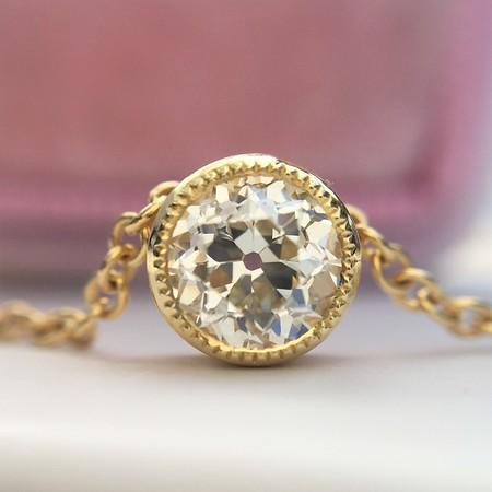 .45ct Old Mine Cut Diamond Bezel Pendant