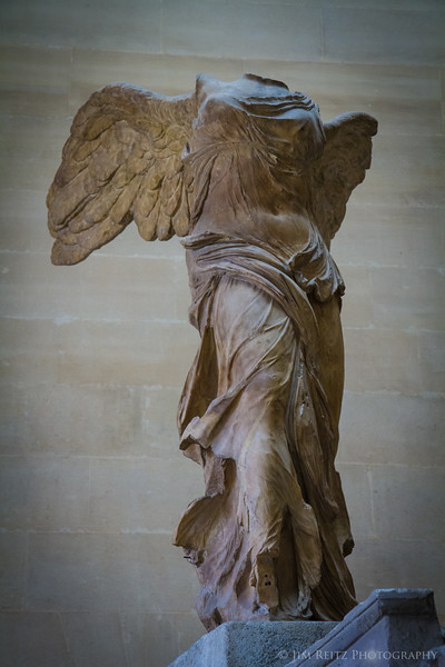 Louvre Museum - Winged Victory, ancient Greek.