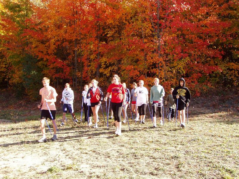 Nordic Walking during fall color season