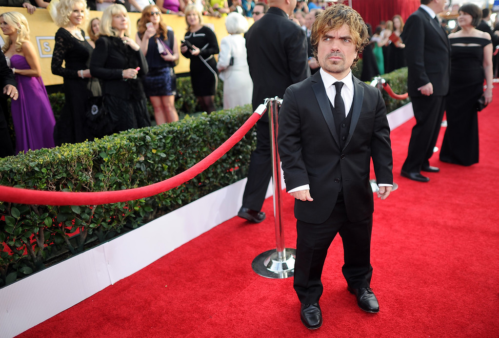 . Peter Dinklage on the red carpet at the 20th Annual Screen Actors Guild Awards  at the Shrine Auditorium in Los Angeles, California on Saturday January 18, 2014 (Photo by Hans Gutknecht / Los Angeles Daily News)