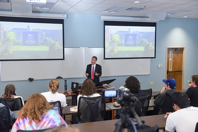 Jeff Morgheim, former BP executive speaks  at Belmont