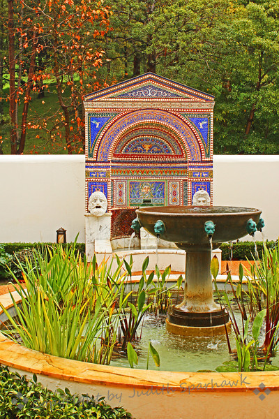 Two Fountains in the Garden ~ Outside the Getty Villa, the gardens hold many ponds, fountains and other features.  It was a joy to explore and photograph.