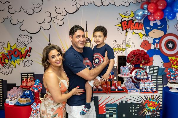 Festa do Capitão America no Caramelo Buffet Infantil do Miguel