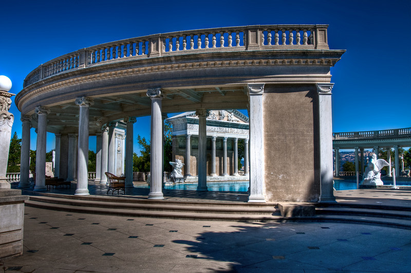The famous Neptune Pool, as you walk up to it. It started out as a teeny pool and expanded into the gorgeousness that it is today!